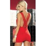 Sırt Dekolteli Kırmızı Mini Elbise