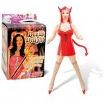 Şeytan kostümlü şişme kadın