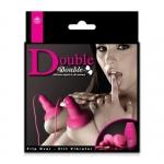 Double Double Silikon Titreşimli Göğüs ve Klitoris Uyarıcı - Pembe