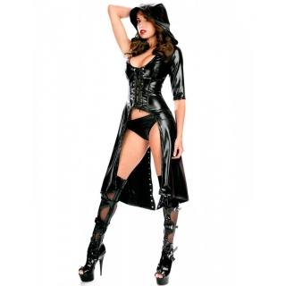 Süper Seksi Deri Kostüm