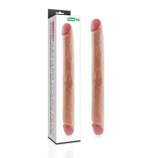 Çift Taraflı Realistik Dildo Anal Vajinal Penis 43cm