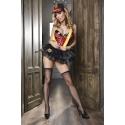 Skirt Frilly Firefighter Costume