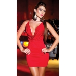 Metal Aksesuarlı Seksi Kırmızı Mini Ebise