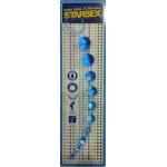 Mavi Zevk Topları Boğumlu Sıralı Anal Plug