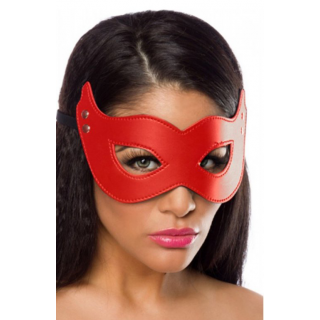 Deri Fantazi Maske Siyah Kırmızı