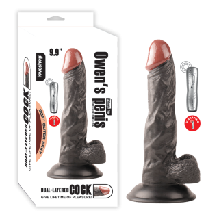 Owen Titreşimli Realistik Zenci Penis Vibratör