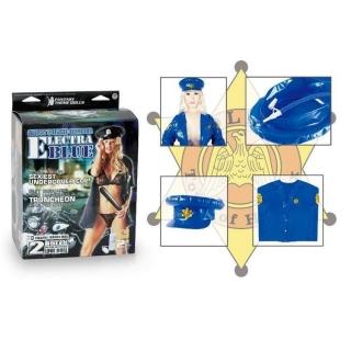Polis Kostümlü Şişme Kadın
