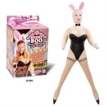Tavşan kız kostümlü şişme kadın
