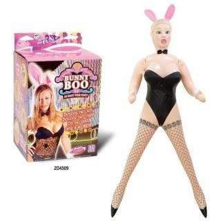 Tavşan Kız Kostümlü Şişme Manken