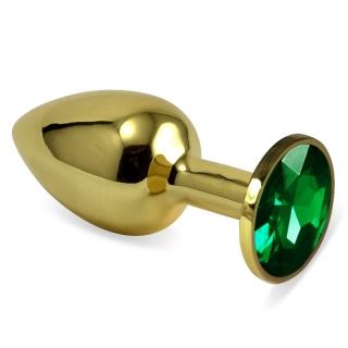 Yeşil Küçük boy gold anal plug